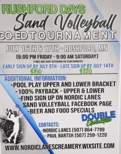 Sand Volleyball Co-Ed Tournament @ Behind Nordic Lanes